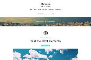 Minimia-Content Focused Bootstrap WP
