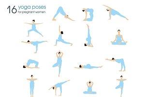 yoga poses for pregnant women  customdesigned graphics