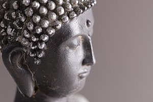 Profile of a buddha figure