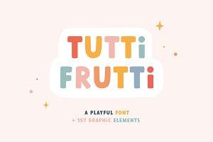 Tutti Frutti | Playful font