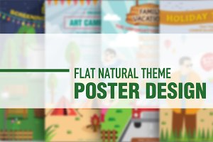 Flat Nature Theme - Poster Designs
