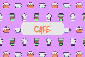 Cafe icon pattern.
