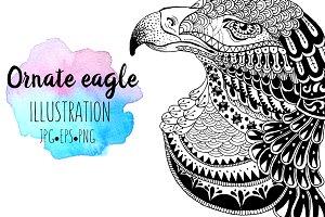 Ornate majestic eagle