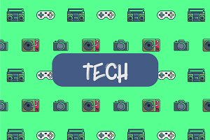 Tech icon pattern