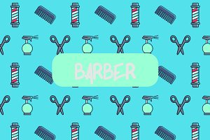 Barber icon pattern.