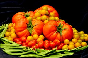 tomatoes in baroque still life