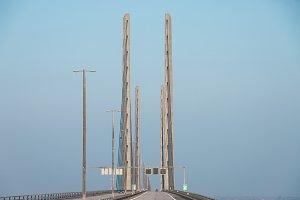 Driving thru bridge
