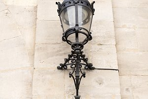 Old lamppost in historic building