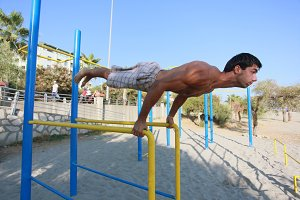 Athlete makes Planche