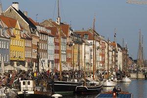 Copenhagen street by a channel