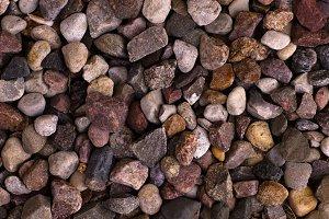 Uneven pebbles