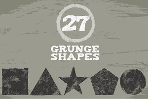 Set of grunge shapes