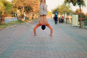 Handstand on the street