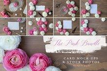 The Pink floral stationery bundle