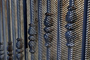 perforated iron gate