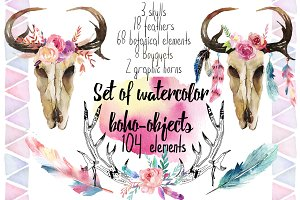 20% off-Watercolor 104 Elements!