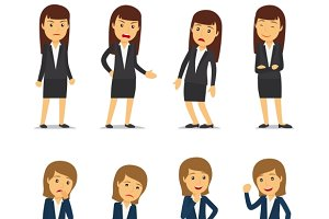 Business woman emotions