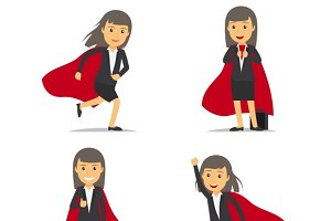 Businesswoman superhero