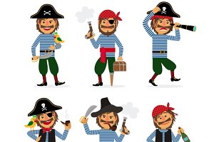 Cartoon pirate character
