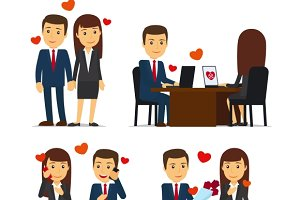 Office romance or love affair