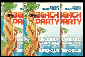 Beachparty Flyer + FB Banner