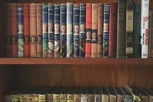 Vintage Books on Shelf 4