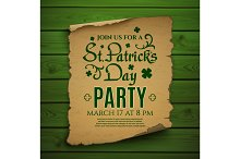 St. Patrick's Day party invitation.