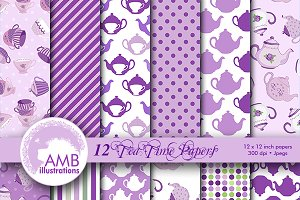 Lavender Tea Time Papers, AMB-1202