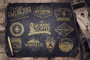 Vintage Americana Badges and Logos 2