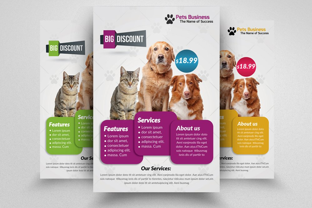 Pet shop business flyer template flyer templates for Puppy for sale flyer templates