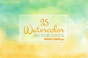 35 Watercolor backgrounds