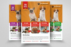 Pet Store Business Flyer Template