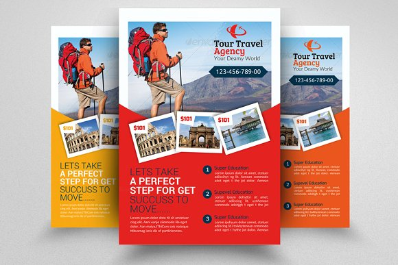 Tour travel agency flyer template flyer templates creative market tour travel agency flyer template flyers pronofoot35fo Choice Image