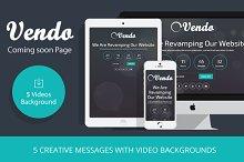 Vendo – Video Coming Soon Template