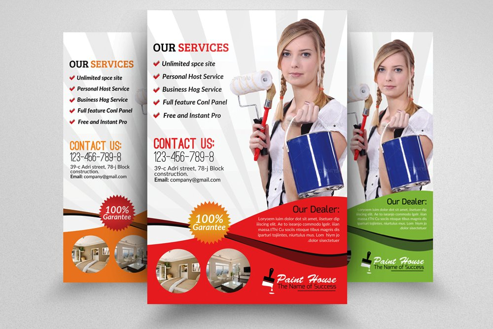 House Painter Service Flyer ~ Flyer Templates ~ Creative ...