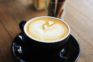 coffee in vintage color