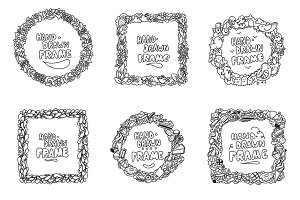 Hand drawn frames set