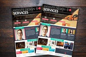 Minimal Web Designer Flyer