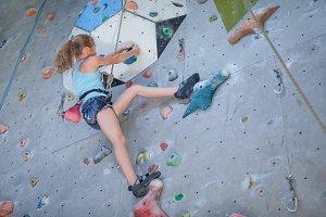 teenager climbing