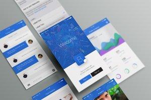 Blu - Creative App Ui (PSD)