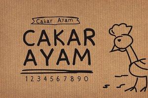 Cakarayam Font
