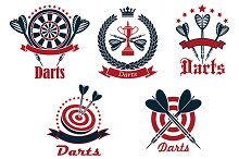 Dart game icons and symbols