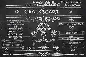Chalkboard - Text Dividers