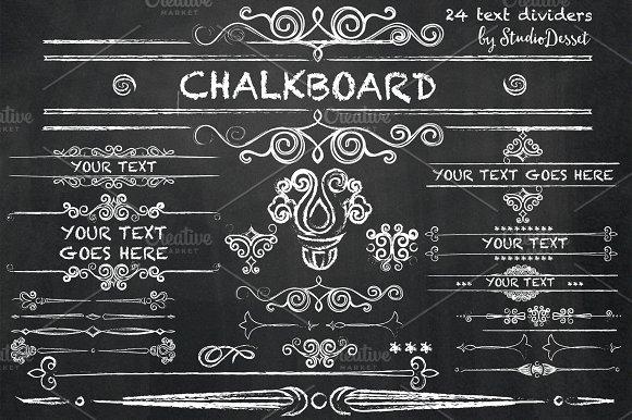 Chalkboard - Text Dividers - Illustrations