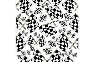 Motor racing seamless pattern