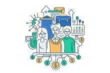 Successful Team Illustration