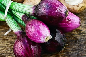 Onions and mushrooms
