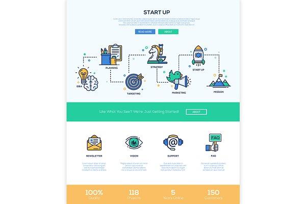 Start Up Icons & Webdesign Elements