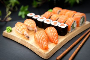 Sushi set Traditional Japanese Food