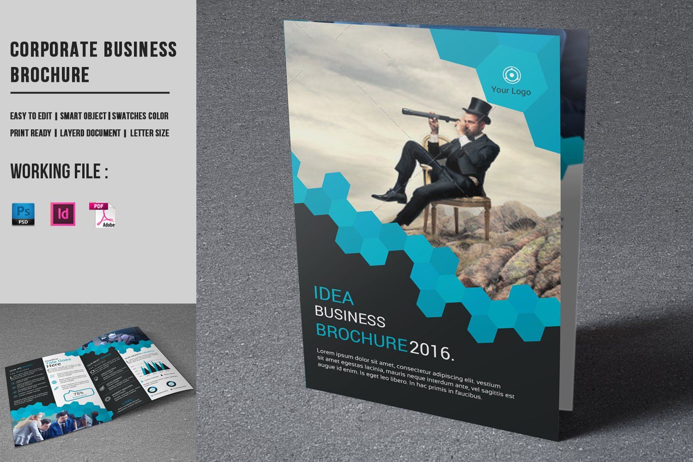 Corporate Brochure Template-V755 ~ Brochure Templates ~ Creative Market